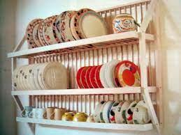 wall mounted dish rack dish storage