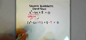 how to complete the square and solve quadratic equation math