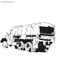 Small Picture Army Truck Coloring Page Military Transport Truck