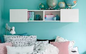 ikea bedroom furniture for teenagers. Luzie\u0027s Pastel Blue Walls And Monochrome Textiles Complement Each Other Ikea Bedroom Furniture For Teenagers