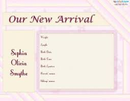 newborn baby announcement sample printable birth announcements