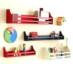 wall bookshelf for kids pottery barn shelves contemporary display and by also room hanging decor ideas