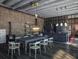 Kitchen:Industrial LoftIndustrial LoftIndustrial Loft Industrial Kitchen  for Easy Cleaning with Best Look