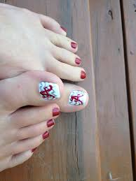 Alabama Nail Art Designs Alabama Football Roll Tide This Is What I Attempted To Do