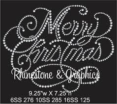 Vs Rhinestone Designs Merry Christmas Rhinestone Pattern Instant Download Svg Eps
