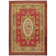 antique french aubusson rug for
