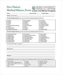 32 Free New Patient Medical Forms Usmlereview Document