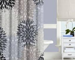 black and gray shower curtain. gray shower curtain, black, blue, beige modern bathroom decor, black and curtain i