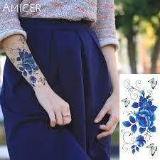 розы искусственные цветы руку на плечо татуировки наклейки флэш тату
