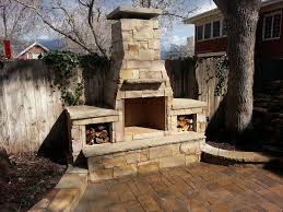 back to partying on outdoor fireplace