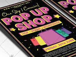 pop up brochure template pop up shop flyer psd template by psd market dribbble dribbble