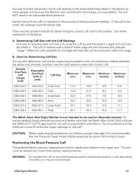 Positioning The Blood Pressure Cuff Welch Allyn Vital
