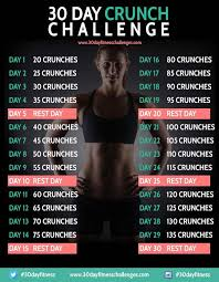 30 Day Abs Challenge 30 Day Workout Challenge Crunch