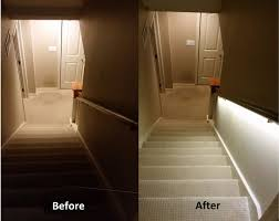 interior step lighting. introduction stair lighting solution with led strips interior step