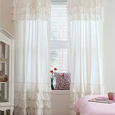 white curtain panels. Custom Make Ruffle Curtain Panel- Pure White Panels O