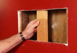 cut support install wall patching large holes wallboard
