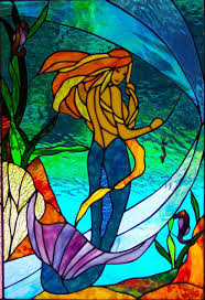 Mermaid Stained Glass Pattern Unique Design