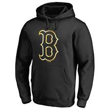 Black Pullover Mlb Sox Red Hoodie Boston Gold Program