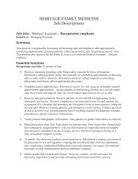 best photos of medical office assistant job description office medical assistant job description