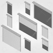 Stahl Schutzfensterläden Für Fenster Türen Und Garage Auf Einem