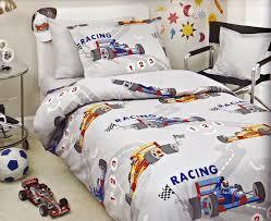 race car twin sheet set