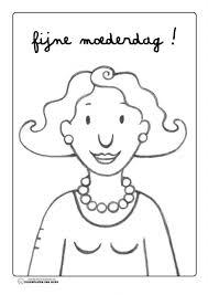 Kleurplaat Mama Jules Moederdag Knutselen Mothers Day Theme