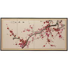 plum blossom chinese painting wall art on plum flower canvas wall art with 36 in x 72 in plum blossom chinese painting wall art silk pblos