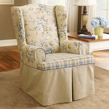 Living Room Chair Slipcovers Special Wingback Chair Covers Beautifying Your Furniture Designs