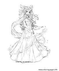 Anime Coloring Pages To Print Elves Coloring Pages Anime Elf