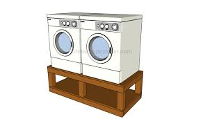 washer dryer pedestal plans