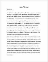 capital stuct essay apple capital structure essay background this preview has intentionally blurred sections sign up to view the full version