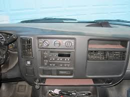replacing the factory radio from a chevy express to a diy getting the dash off was a major ordeal i had to remove both driver and passenger knee panels some of the connectors were difficult to get to