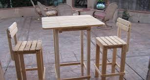 diy wood patio furniture. Diy Plans Make Bar Table Stool Set Wingstoshop Wood Patio Furniture