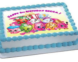 Shopkins Birthday Sheet Cake Happy Holidays