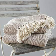 chevron 100 cotton sofa throws natural