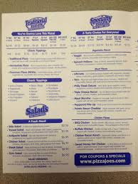pizza joe s menu menu for pizza joe s beaver pittsburgh pizza joe s beaver menu