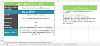Smart Goals Template Smart Goals Template Jawfish Digital