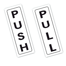 push pull signs vinyl printed stickers hotel pub office kitchen for glass doors australia and