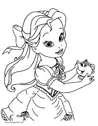 Disney Little Princesses Coloring Pages Disneyclipscom