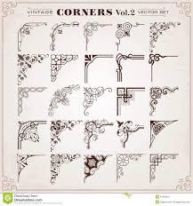 Corner Designs Vector Free Download Vintage Design Elements Corners And Borders Stock Vector