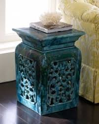 ceramic garden stools. Vintage Garden Stool Handmade Ceramic With Intricate Stools