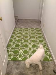 rug on carpet. Flip The Area Rug Over. Walk Across It A Few Times To Help Push On Carpet