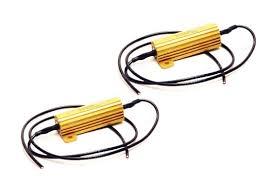 1 pair of led ultra bright white lights universal Led Load Resistor Wiring Diagram led tail light load resistors pair for jeep wrangler jk 2007 2017 2 LED Blinker Resistor Install