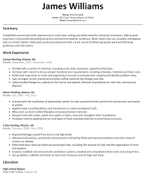 Roofing Job Description Resume Roofer Resume Sample ResumeLift 1