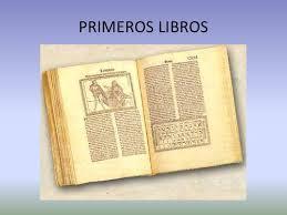 Resultado de imagen de Los primeros libros
