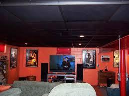 acoustic black ceiling tiles