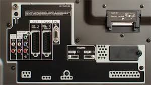 panasonic flat screen tv back. rear connections on panasonic th42pz80 flat screen tv back