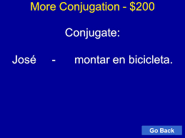 Cantar Conjugation Chart Jeopardy Map Quiz Review Final Review Español Final Review