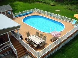 Square Above Ground Pools  Deck Designs For Swimming Decks