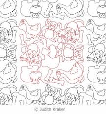Dog Hippo Rabbit Goose Panto | Digital Quilting Designs & Digital Quilting Design Dog Hippo Rabbit Goose Panto by Judith Kraker. Adamdwight.com